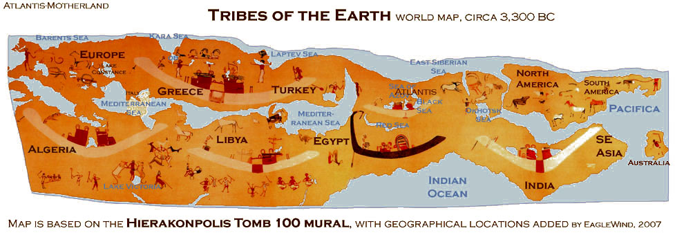The 100 Map Of Earth.Tribes Of The Earth World Map