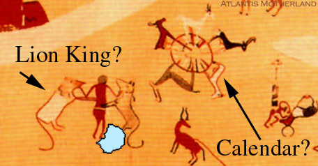 Ancient Egyptian Map of  Lion King